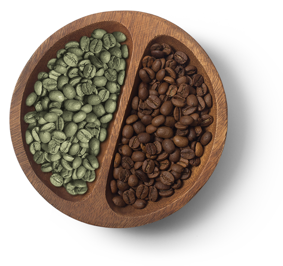 green-and-roasted-coffee-beans
